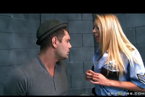 sexy large tit blond cop is screwed hard by