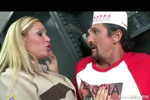 hot big tit golden-haired cop punished &