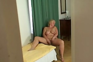 granny jumps on son in laws dick