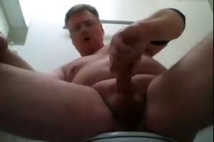 dad foams at the mouth and shoots his load