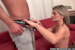 sexy aged mother i sucks and fucks ramrod on the