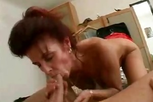 mom copulates her hubby and her younger boy in