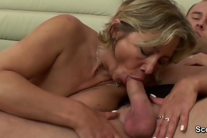 mom wake up when boy touch her and get screwed