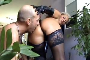 youthful slave ass take up with the tongue hot