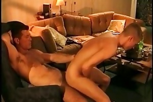 a chap makes juvenile guy to ride his large dick