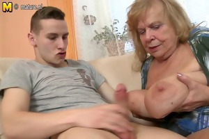 young son fucks hawt large breasted granny