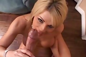 sexy blonde blowjob