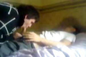 hidden webcam - young lad receives sucked by dude