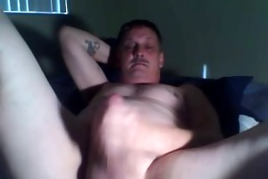 dad home alone jerking his dong