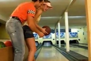 hawt teen fucked in the bowling alley