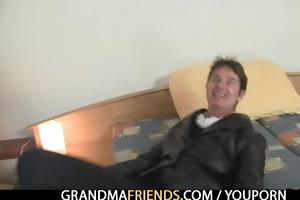granny takes jocks after photosession