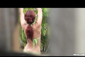 hidden webcam neighbor by the pool!
