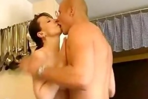 preparing dinner and sucking jock part1