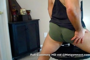 giant cum w/ young hirsute muscle stud!