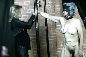 perverted old granny receives her billibongs