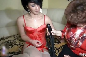 concupiscent old whore goes avid engulfing