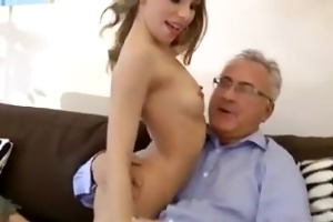youthful british blonde sucks old chap