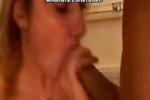 kinky gf blows a huge cock and eats cum