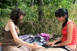 outdoor mature couple with horny legal age