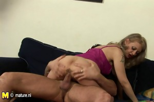 old but still hot mother fucking and creampied