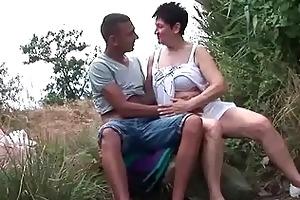 breasty grandma fucking her young boyfriend