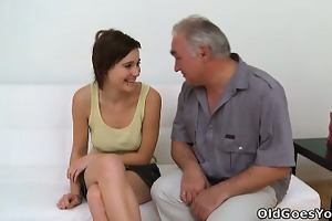 old chap needs to play with a cute young pussy