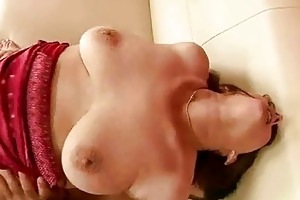 old redhead sucking and riding huge cock