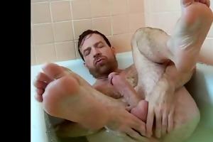 hot dad in the baths