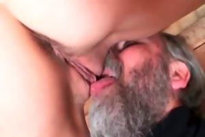 grandpa fucks astounding babe