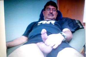 mexican dad showing his large pounder on web