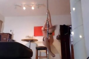 posh young pole dancing coed cera fucks her