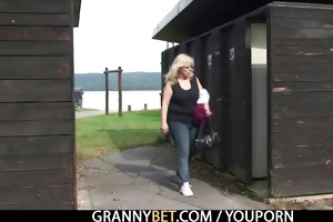 granny acquires screwed in the changing room