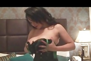 super breasty milf danica in stocking tease