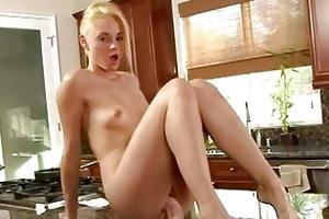 sweet young blond masturbating furiously