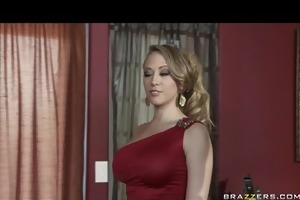 big-tit blonde cheating wife disrobes then ass