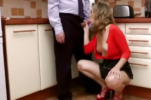 juvenile euro playgirl gives head to old stud