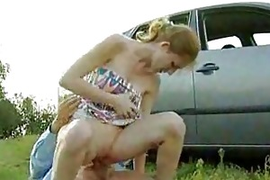 old lad banged juvenile beauty outdoor