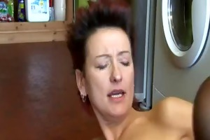 masturbating in kitchen with not his mother bvr