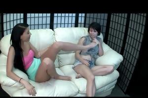 young lesbian foot worship