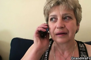 cock-hungry granny enjoys dicks