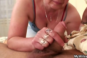 cock-hungry granny fucks her son-in-law