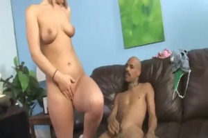 youthful daughter with admirable ass fucked by a