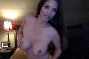 biggest boobs babe rides her fake penis slowly