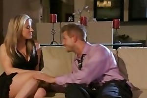 hot golden-haired d like to fuck rides a hard