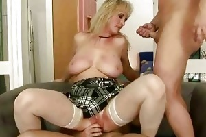 hot grandma enjoys nasty sex wth younger dude