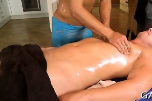 massaging youthful hard dong