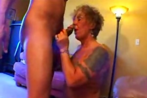 tattooed old biker playgirl gets freaky