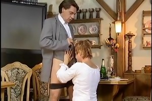 mature playgirl gets hard drilled and jizz flow