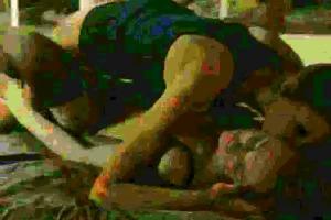 juvenile girls in valuable petticoat engulfing