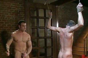 young homo dude got bondaged and mouth fucked